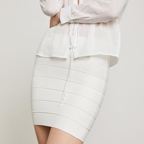 24affd9018 BCBG Simone White Mini Pencil Skirt. NWT. BCBGMaxAzria.  M_5ba5daa10945e0b7fef6becf. M_5ba5da524cdc30c1b533dc6c.  M_5ba5da535fef372aad11a81c